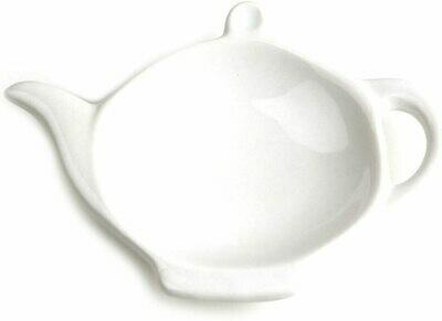 Omniware™ White Ceramic Tea Caddy & Infuser Holder
