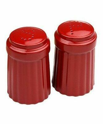 Omniware™ Red Ceramic Simsbury Salt & Pepper Shaker Set