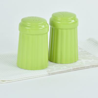 Omniware™ Citron Green Ceramic Simsbury Salt & Pepper Shaker Set