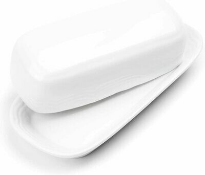 Fox Run® Classic White Stoneware Butter Dish