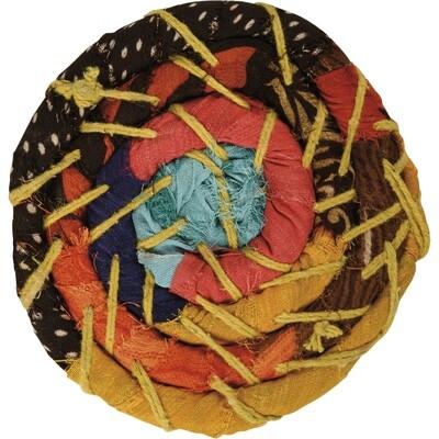 Wrapped Kantha Coaster