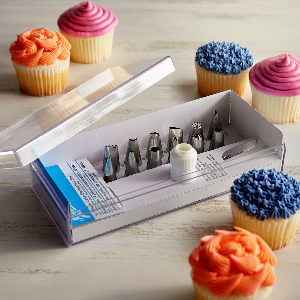 Ateco® 14-Piece Stainless Steel Piping Tip Decorating Set
