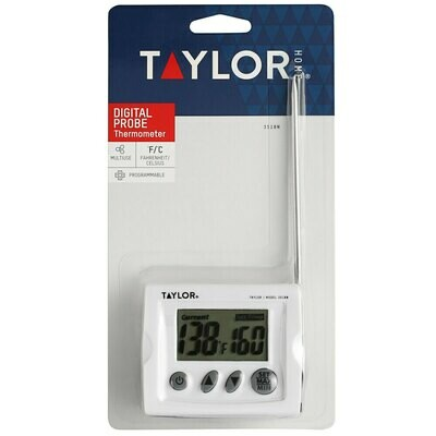 """Taylor® 6"""" Digital Probe Thermometer with 48"""" Cord"""