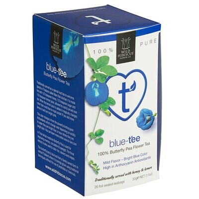 Wild Hibiscus™ Blue-Tee 100% Pure Butterfly Pea Flower Herbal Tea
