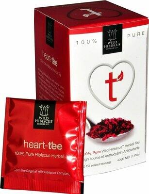 Wild Hibiscus™️ Heart-Tee 100% Pure Hibiscus Herbal Tea