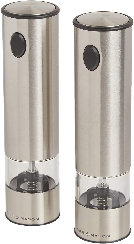Cole & Mason® Battersea Electronic Salt & Pepper Mill Set with LED Lights