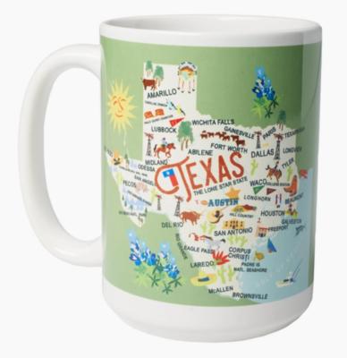 Galleyware™ 15 oz. Texas Ceramic Mug
