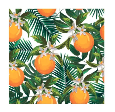 Talking Tables® Tropical Palm Orange Lunch Napkins