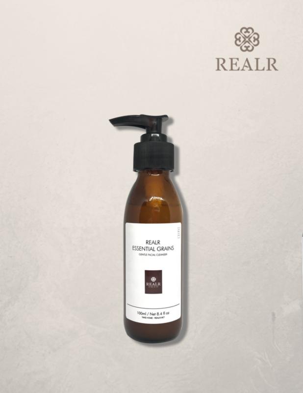 Essential grains gentle facial cleanser