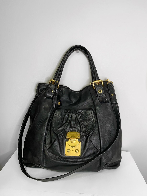 MuiMui Vintage Leather Shoulder Bag