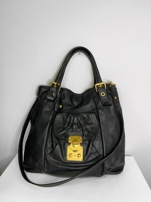 MuiMui Vintage Leather Shoulder Bag