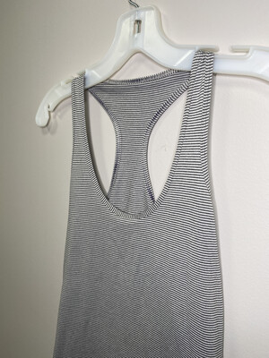 Women's Lululemon Gray Pinstripe Athletic Tank Top