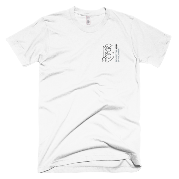 Beyond the Built Environment - WHITE Embroidered T-Shirt