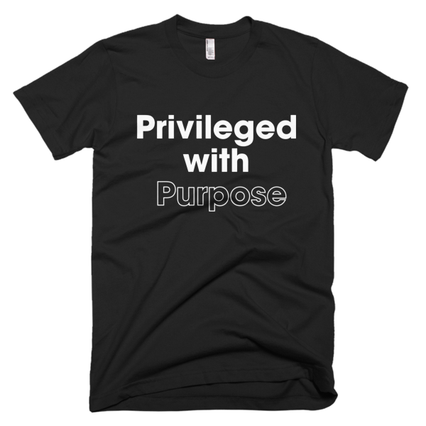 Privileged With Purpose - WHITE Graphic T-Shirt