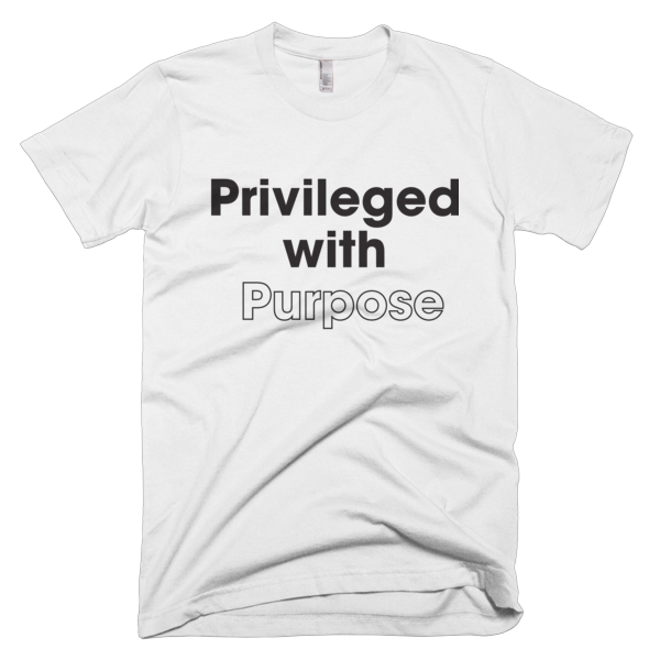 Privileged With Purpose - BLACK Graphic T-Shirt