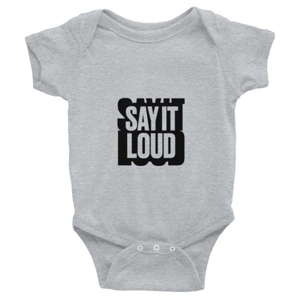 SAY IT LOUD - BLACK Logo Graphic Infant Bodysuit