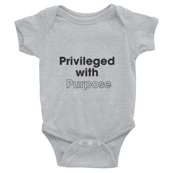 Privileged With Purpose - BLACK Graphic Infant Bodysuit