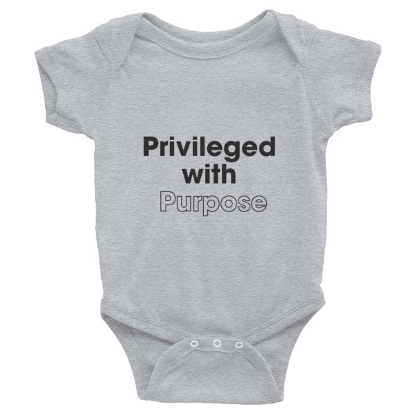 Privileged With Purpose - BLACK Graphic Infant Bodysuit
