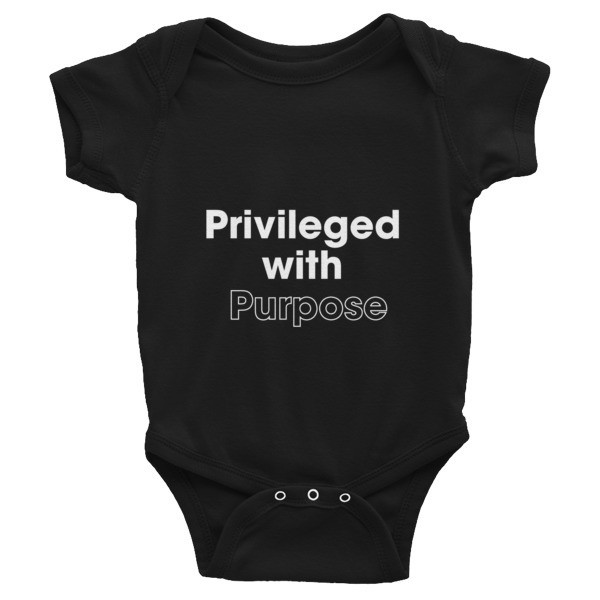 Privileged With Purpose - WHITE Graphic Infant Bodysuit