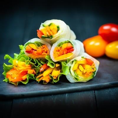 Mini Veggie Rice Wraps