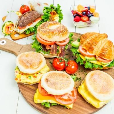 Hot Breakfast Sandwich & Burrito
