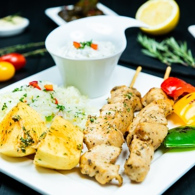 Chicken Souvlaki Dinner