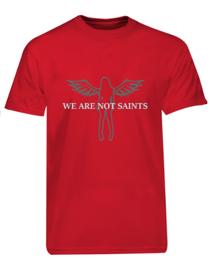 We Are Not Saints - Original Angel Logo - Red Ltd Edition
