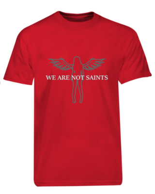 We Are Not Saints - Original Angel Logo - Red Ltd Edition