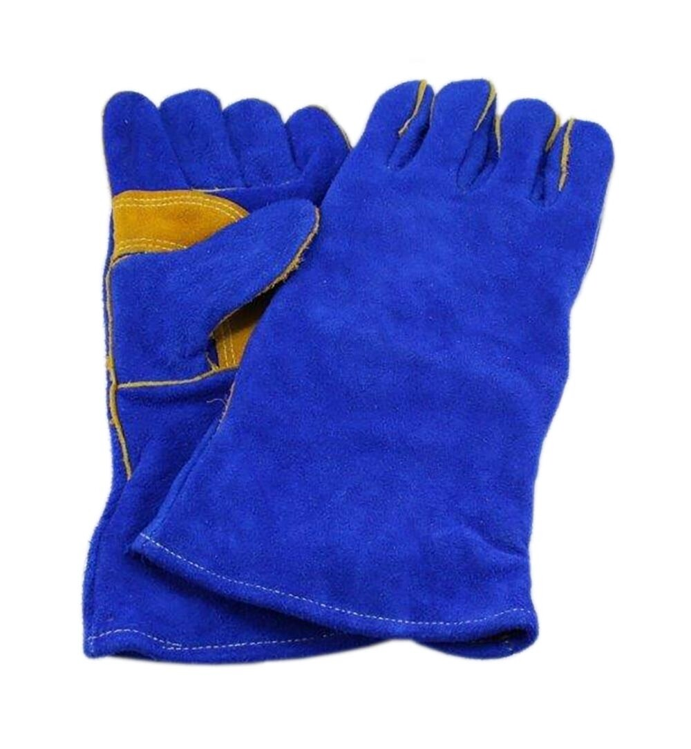 Mig Welding Glove Blue - Kevlar stitching