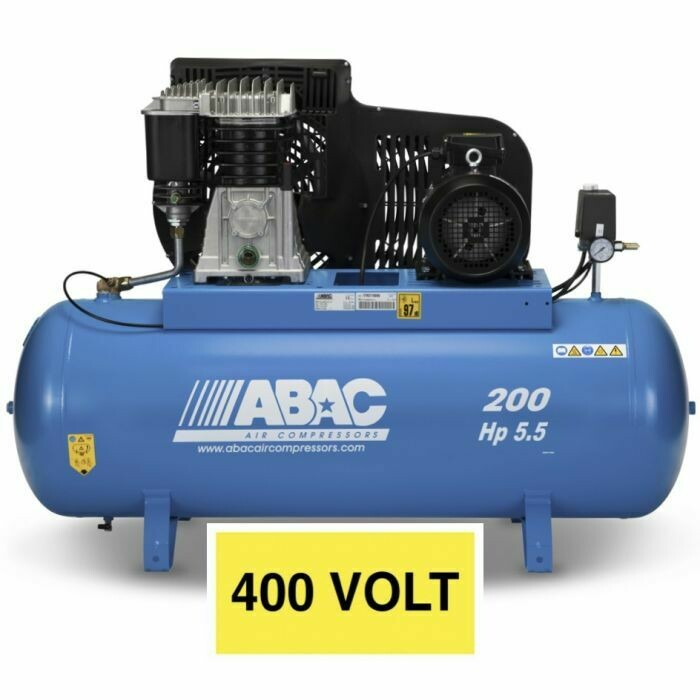 Abac PRO B5900B 200 FT5.5 200Litre Tank Stationary compressor 400v 16Amp (Suitable for the P100cnc)