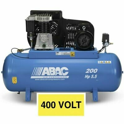 Abac PRO B599B 200 FT5.5 200Litre Tank Stationary compressor 400v 16Amp (Suitable for the P100cnc)