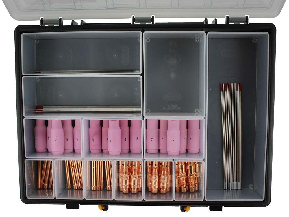 76 piece ACDC TIG Welding Consumable Kit WP17/18/26