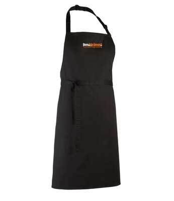 EMBROIDED BLACK APRON