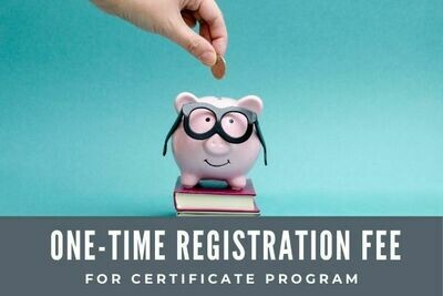 00.  One Time Registration Fee for Certificate Courses cc-REG
