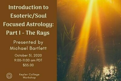 Michael Bartlett workshop recording: Part I Introduction to Esoteric/Soul Focused Astrology: The Rays wkmb20201031