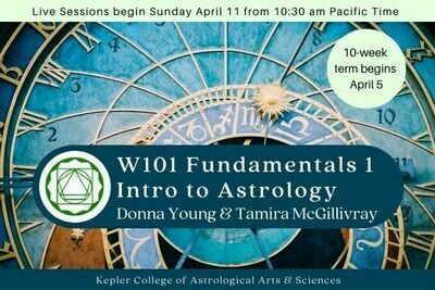 W101 Fundamentals I: Introduction to the Practice of Astrology cc-W101