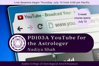 PD103A YouTube for the Professional Astrologer by Nadiya Shah cc5-PD103A