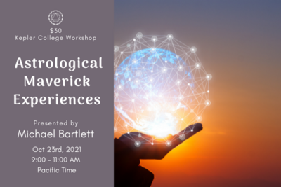 [Workshop][Bartlett] Oct 23. Experiences with Astrological Mavericks by Michael Bartlett wkmb180630