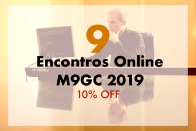 Pacote com 9 Encontros Online M9GC 2019