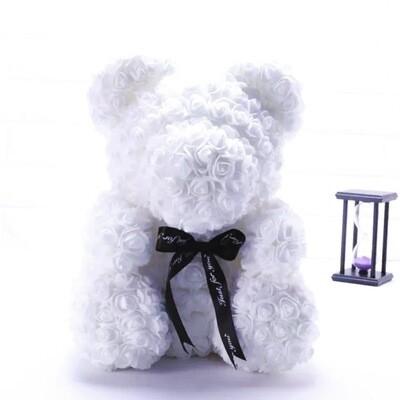 Rosette Bear White Color