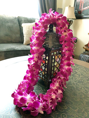 Purple Orchid Lei - (double)