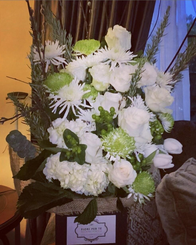 Boxy Knoxy #2 - White Flowers