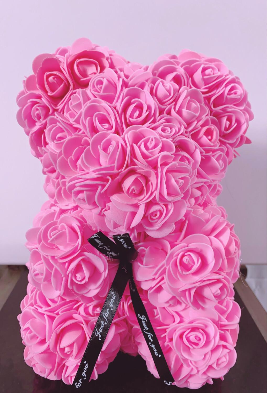 Rosette Bear Pink Color 25 CM