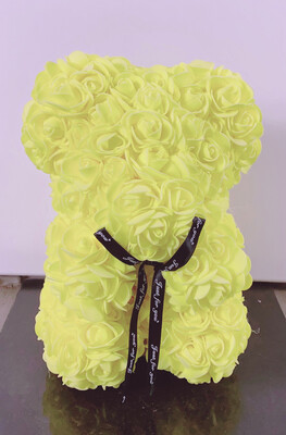 Rosette Bear Yellow Color 25 CM