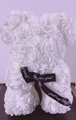 Rosette Bear White Color 25 CM