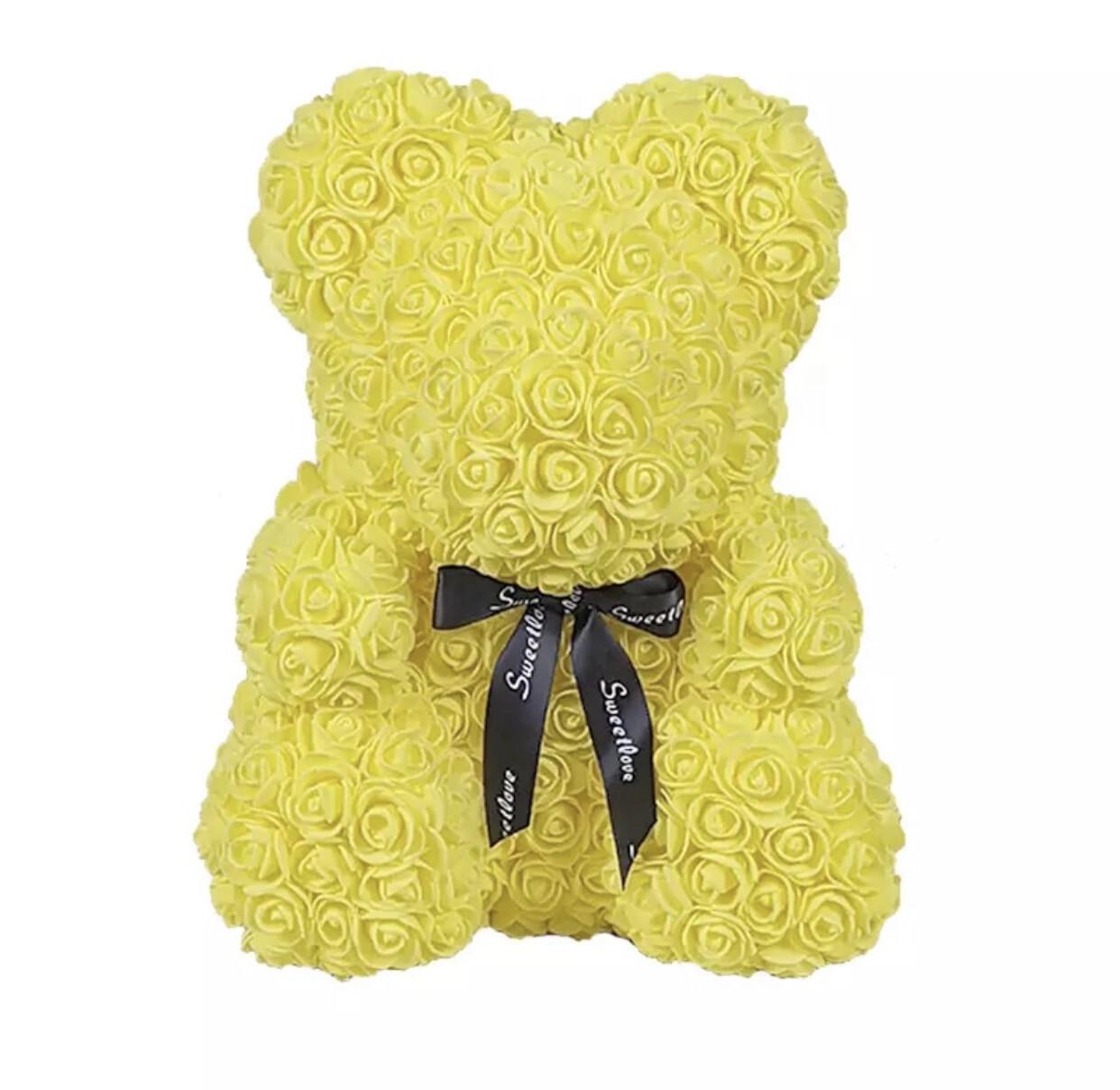 Big Yellow Rosette Bear