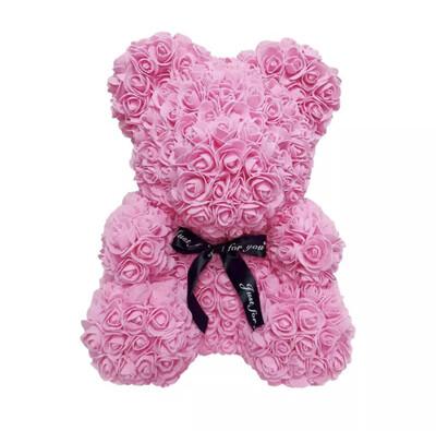 Big Pink Rosette Bear
