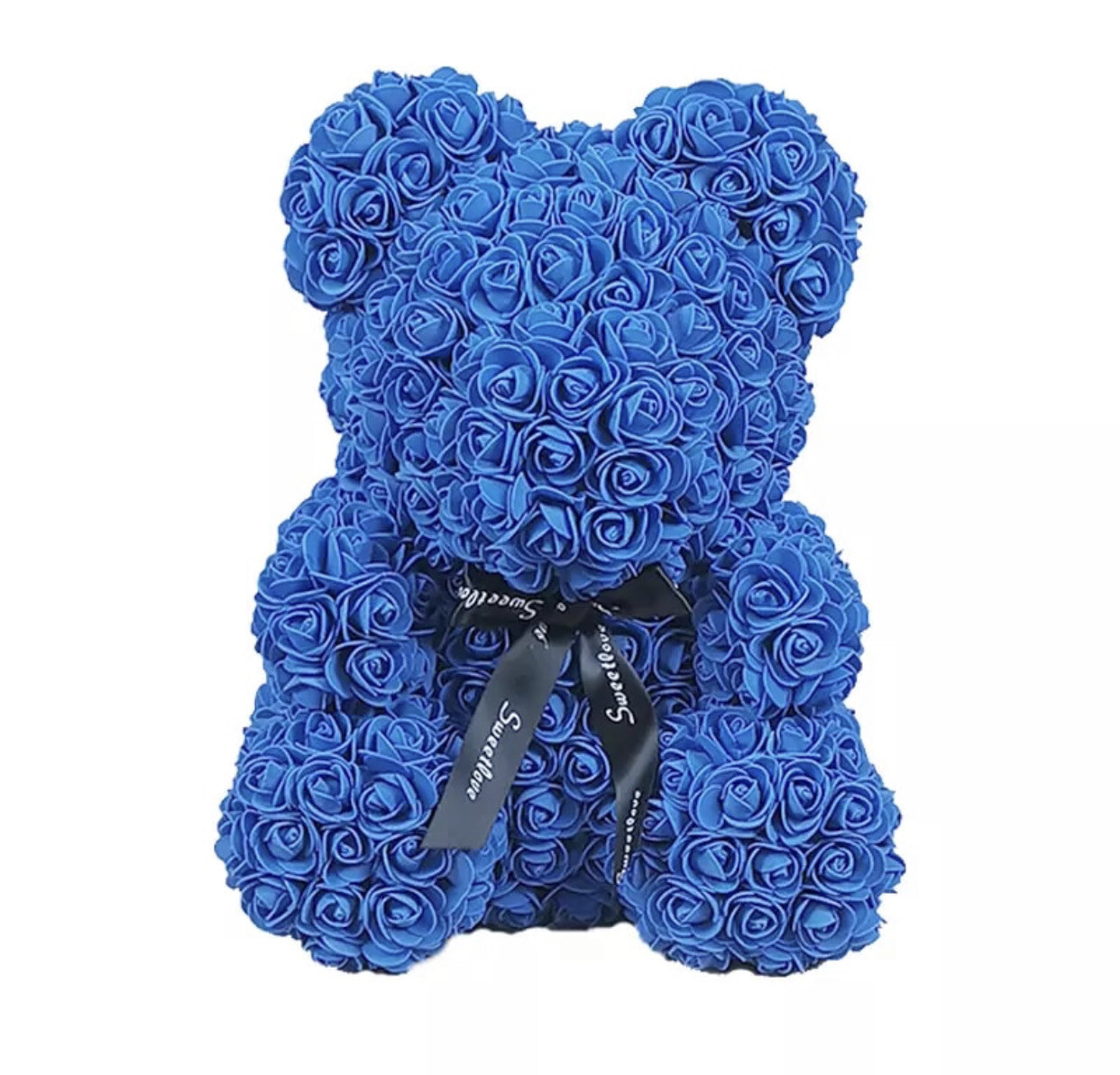 Big Blue Rosette Bear