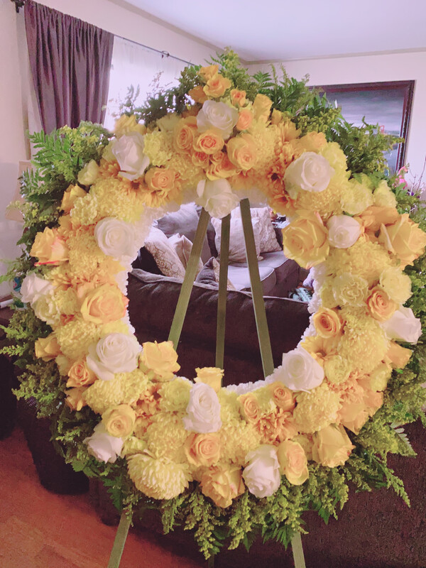 Yellow Wreath 21 diameter