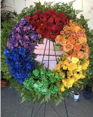 Rainbow Wreath